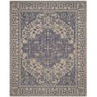 Mahoney Ivory and Turquoise Area Rug Rug Size: Square 6' x 6'