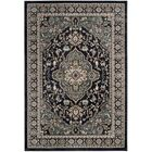 Taufner Anthracite/Teal Area Rug Rug Size: Rectangle 6' x 9'