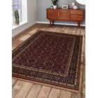 Shephard Hand-Woven Wool Red Area Rug Rug Size: Rectangle 8' x 11'