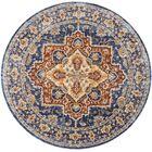 Westbrook Oriental Blue Area Rug Rug Size: Round 5'