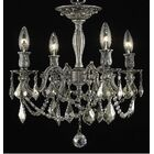 Utica 4-Light Candle Style Chandelier Crystal Color / Crystal Grade: Golden Teak (Smoky) / Strass Swarovski
