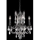 Utica 4-Light Candle Style Chandelier Crystal Color / Crystal Trim: Crystal (Clear) / Spectra Swarovski