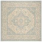 Allie Cream/Aqua Area Rug Rug Size: Square 6'7
