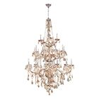 Doggett 25-Light Candle Style Chandelier Crystal Color: Amber