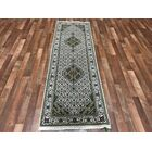 One-of-a-Kind Marzulli Mahi Hand-Woven Wool/Silk Ivory/Green Area Rug