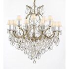 Weidler 16-Light Fabric Shade Shaded Chandelier