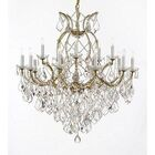 Weidler 16-Light Hardwire Candle Style Chandelier Finish: Gold