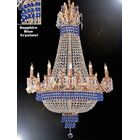 Wein 15-Light Chandelier Crystal Color: Blue, Finish: Gold
