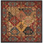 Balthrop Red Area Rug Rug Size: Square 6'