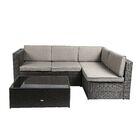Nat 3 Piece Sofa Set with Cushions Color: Black