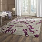Varnai Light Gray/Purple Area Rug Rug Size: Rectangle 6' x 9'
