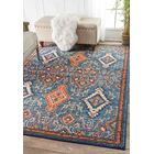 Brooklyn Orange/Blue Area Rug Rug Size: Rectangle 5'3