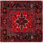 Barrera Red/Black Area Rug Rug Size: Square 6'7