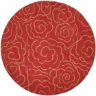 Karuna Hand-Tufted Red Area Rug Rug Size: Round 8'