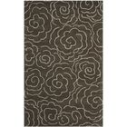 Tatyana Chocolate/Ivory Area Rug Rug Size: Rectangle 3' x 5'