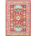 Saige Red Area Rug Rug Size: Rectangle 5'3