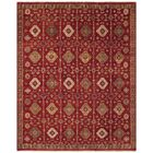 Almohades Red Area Rug Rug Size: Rectangle 5'6