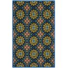 George Green/Blue Outdoor Area Rug Rug Size: Runner 2'3