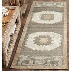 Gretta Hand-Tufted Wool Ivory/Brown Area Rug Rug Size: Rectangle 9' x 12'