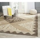 Gretta Hand-Tufted Wool Brown/Charcoal Area Rug Rug Size: Rectangle 9' x 12'