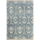 Bhairu Hand-Knotted Light Blue Area Rug Rug Size: 7'9