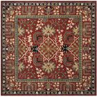 Genemuiden Hand-Tufted Red Area Rug Rug Size: Square 6'