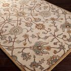 Topaz Hand-Woven Wool Beige Area Rug Rug Size: Rectangle 12' x 15'