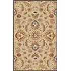 Topaz Blond Floral Area Rug Rug Size: Oval 8' x 10'
