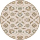 Keefer Hand-Tufted Tan Area Rug Rug Size: Round 6'