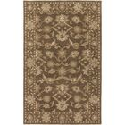 Topaz Hand-Tufted Dark Brown Area Rug Rug Size: Oval 6' x 9'