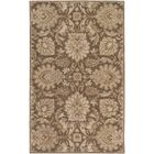 Topaz Hand-Tufted Dark Brown Area Rug Rug Size: Rectangle 8' x 11'