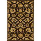 Keefer Hand-Tufted Dark Brown Area Rug Rug Size: Round 9'9