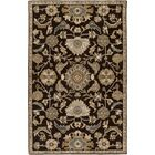Topaz Hand-Tufted Dark Brown Area Rug Rug Size: Oval 8' x 10'