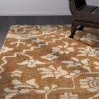 Tarangini Hand-Knotted Brown/Beige Area Rug Rug Size: Runner 2'6