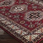 Brahim Red/Black Area Rug Rug Size: Rectangle 7'10