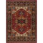 Brahim Red/Black Area Rug Rug Size: Rectangle 6'7