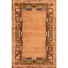 Felicity Hand-Tufted Gold Area Rug Rug Size: Rectangle 7'6