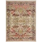 Ashok Hand-Knotted Gray/Pink Area Rug Rug Size: Rectangle 3'6