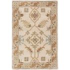 Topaz Brown/Tan Floral Area Rug Rug Size: Round 4'