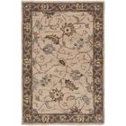 Topaz Brown/Tan Floral Area Rug Rug Size: Rectangle 4' x 6'