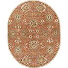 Phoebe Burnt Orange Hand-Woven Wool Area Rug Rug Size: Oval 6' x 9'