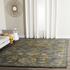 Netea Hand-Tufted Blue Grey/Gold Area Rug Rug Size: Rectangle 8' x 10'