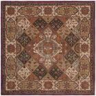 Hesperange Hand-Tufted Rust/Ivory Area Rug Rug Size: Square 6'