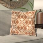 Andre Square Throw Pillow Color: Camel/Cream, Size: 22