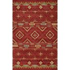 Elvera Hand-Tufted Red Area Rug Rug Size: Rectangle 8' x 10'
