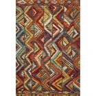 Zaria Hand-Knotted Red/Brown Area Rug Rug Size: Rectangle 5'6