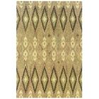 Mireille Hand-Woven Beige/Green Area Rug Rug Size: Rectangle 8' x 10'