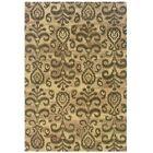 Rosen Hand-Woven Oriental Beige Area Rug Rug Size: Rectangle 3'6