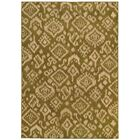 Sonora Green/Beige Area Rug Rug Size: Rectangle 6'7