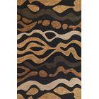 Micadeau Charcoal/Sand/Cinnamon Landscape Rug Rug Size: Round 5'6